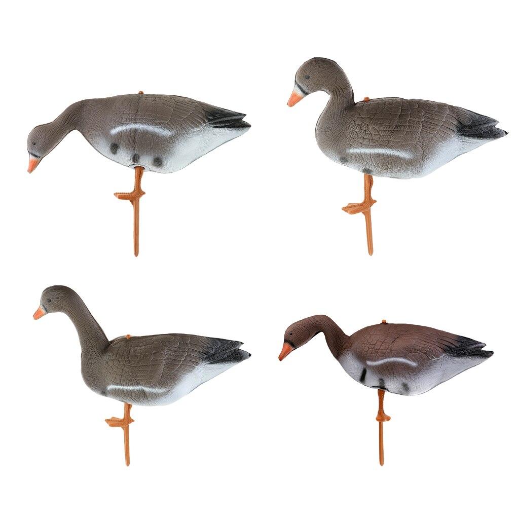 Señuelo de jardín de ganso de pato flotante para caza al aire libre ornamentos de césped Cuervo espantapájaros 4 modelos señuelo de caza espumoso Mal Cuervo Cable