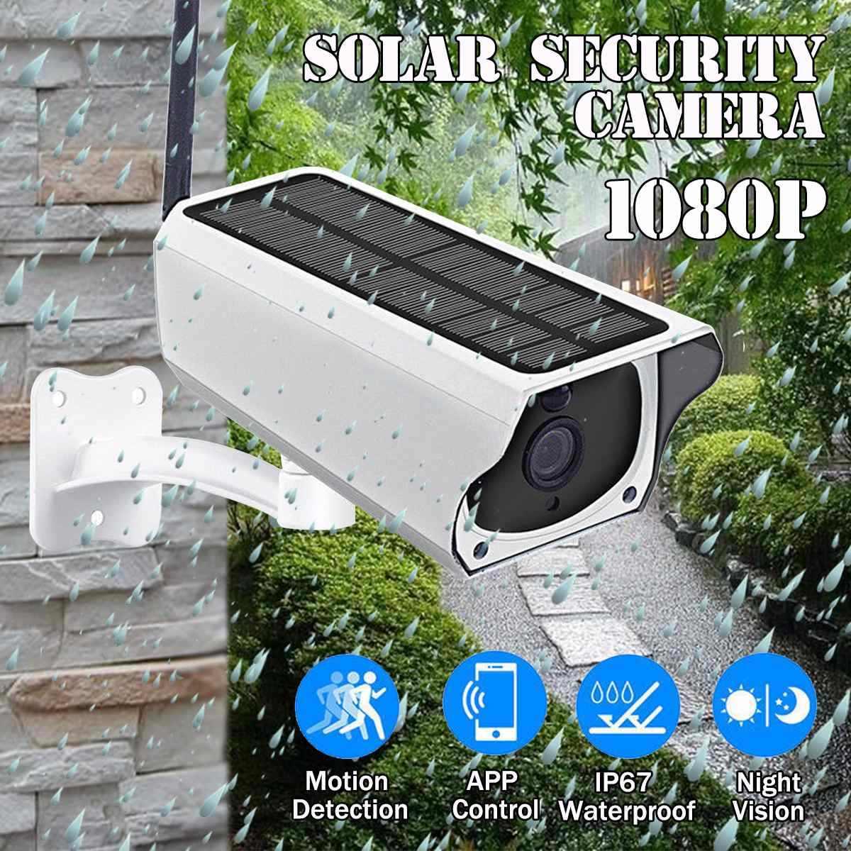 1080P güneş IP kamera 2MP kablosuz Wi-fi güvenlik gözetim su geçirmez açık kamera IR gece görüş güneş enerjisi HD kamera