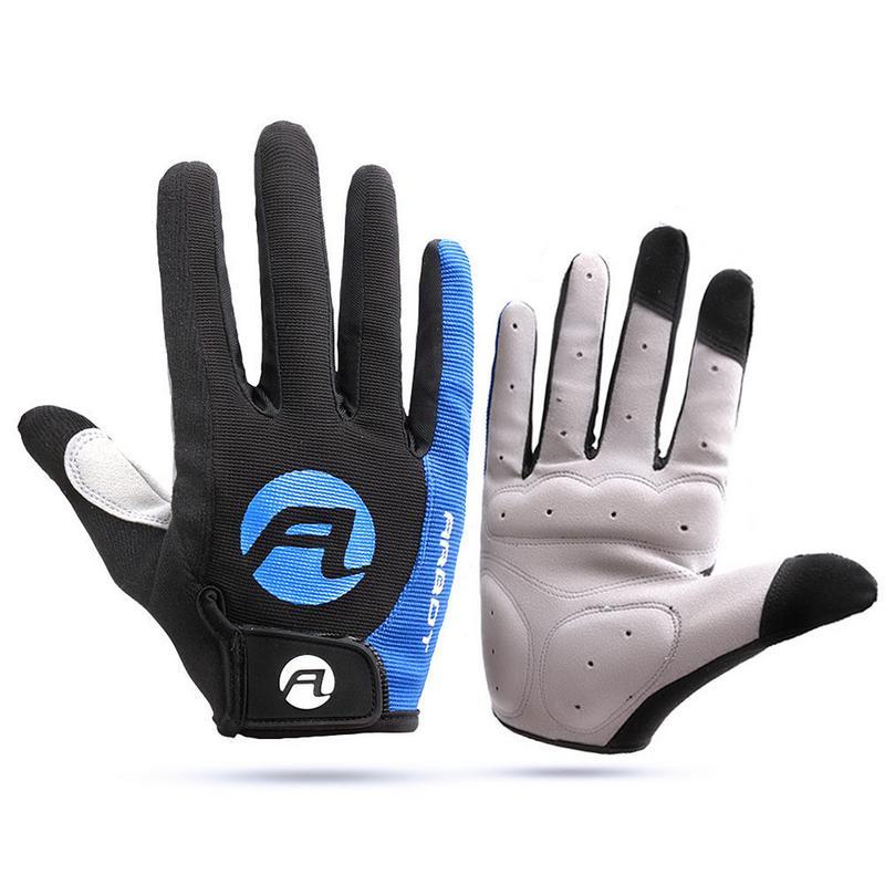 Cycling Anti-slip Full Finger Gloves Bike Gloves Pad Men Breathable Anti-shock Sports Gloves MTB Bike Bicycle Glove Man