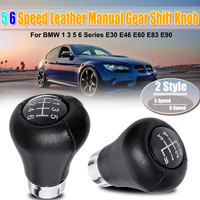 5 6 Speed Gear Shift Knob Fit For BMW 1 3 5 6 Series E30 E32 E34 E36 E38 E39 E46 E53 E60 E63 E83 E84 E87 E90 E91