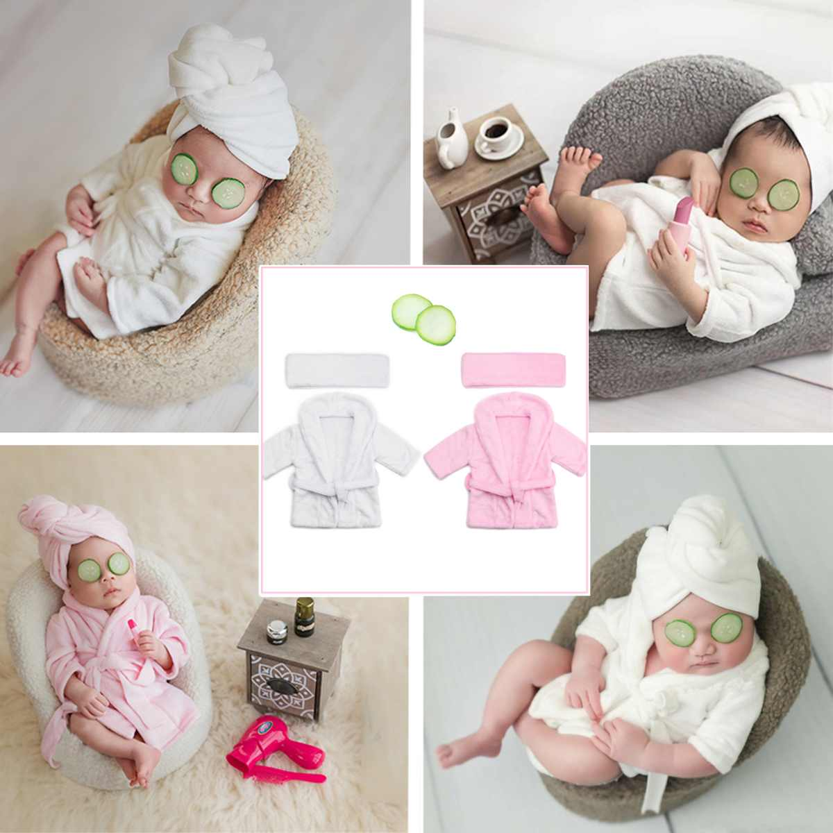 Newborn Baby 0~6 Months Old Baby Photography Prop Modeling Bathrobe Baby Bathrobe Suit For Photos