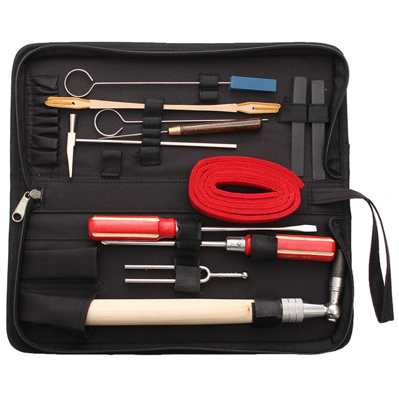 13Pcs/Set Piano Tuning Maintenance Tools Kit With Case For Musical Instruments Parts Accessories