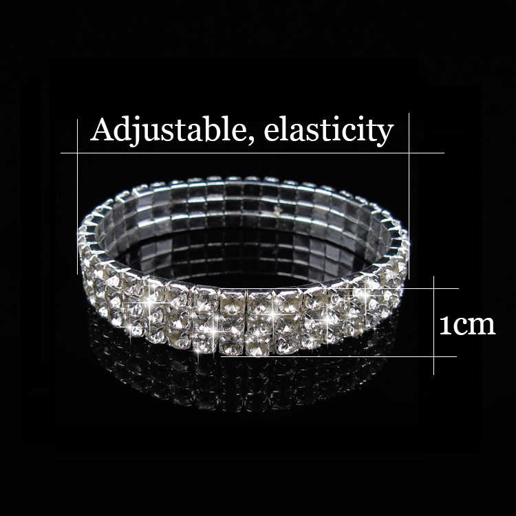0c53d647b9 Wedding Jewelry Silver Rhinestone African Earrings Bracelet Ring Set  Bridesmaid Jewelry Sets for Women Layered Choker Necklace