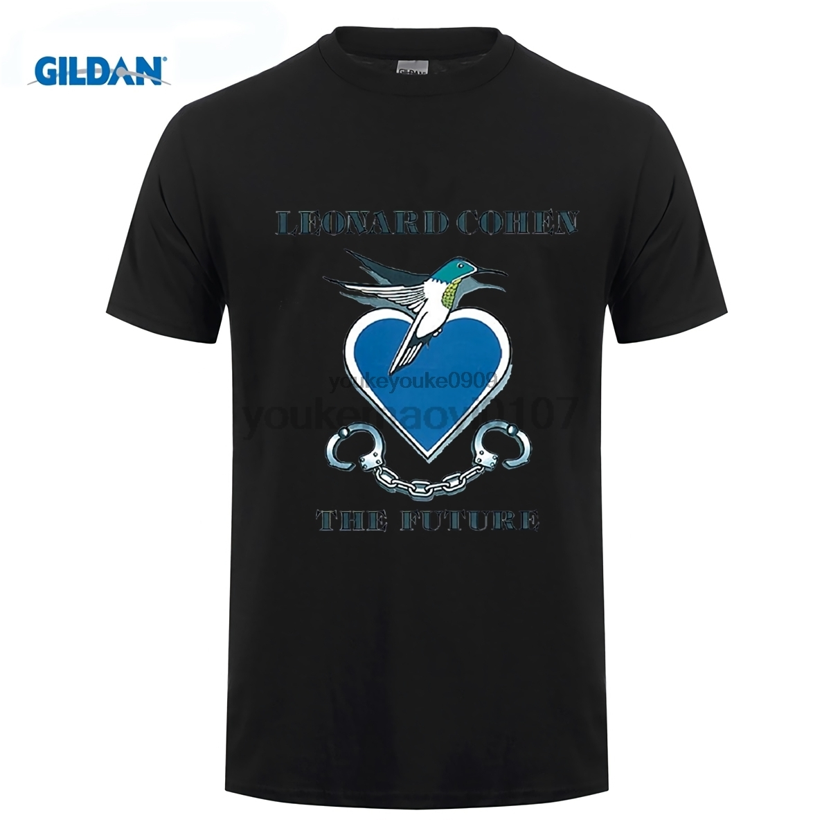 GILDAN Tshirt O-neck Summer Personality Fashion Men T-shirts Leonard Cohen The Future T Shirts Round Neck Cool