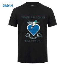 GILDAN GILDAN Tshirt O-neck Summer Personality Fashion Men T-shirts Leonard Cohen The Future Men T Shirts Round Neck Cool gildan футболка