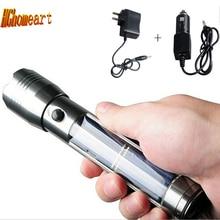 Aluminum Waterproof Solar Powerful Led Flashlight Rechargeable Flashlights Torches 300MA Accumulator Battery Car Charge Lanterna