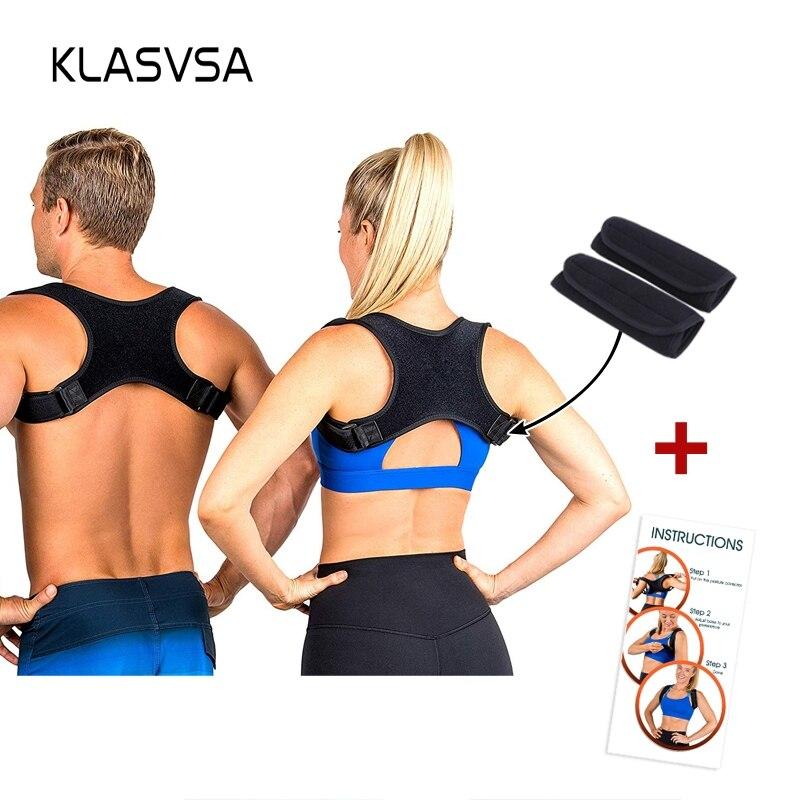 Ajustável Parte Superior das Costas Espartilho Cinta Postura Corrector Ombro Para Trás Suporte Belt Melhor Posture Corrector para As Mulheres Dos Homens Plus Size