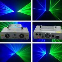 Синий + зеленый лазер 2 объектива DJ свечерние ценическая Вечеринка освещение