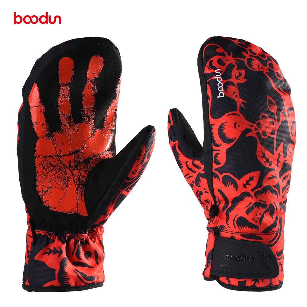 Winter Men's Ski Gloves Fleece Snowboard Gloves Snowmobile Riding Winter Gloves Windproof Waterproof Snow Gloves