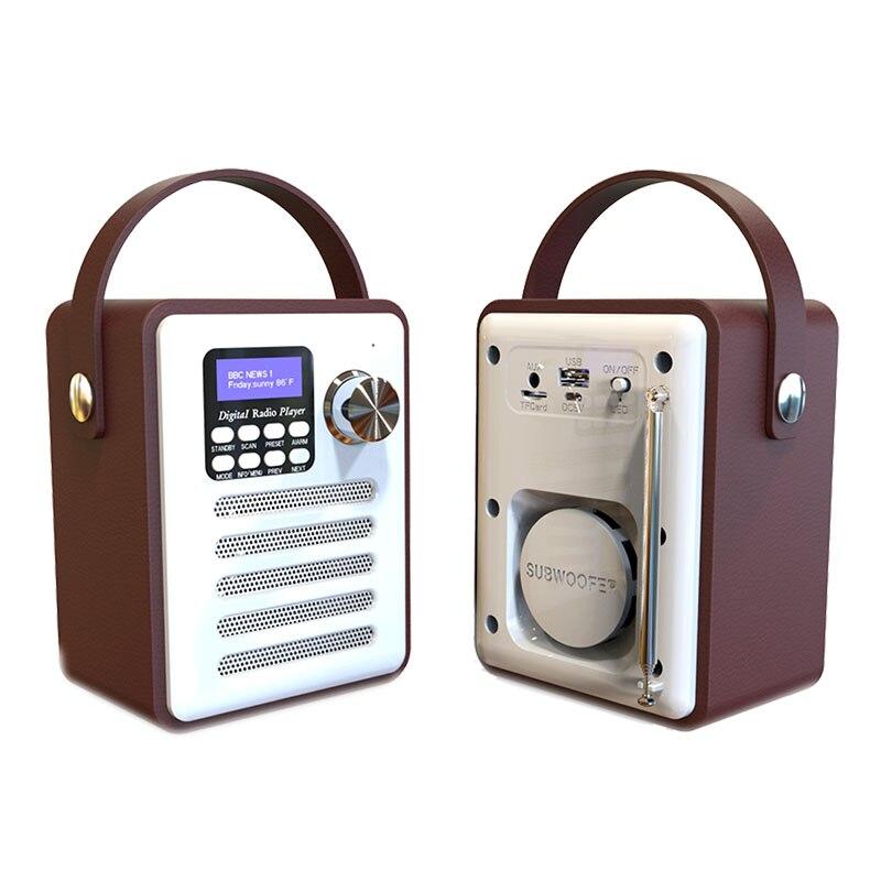 Récepteur Radio numérique Dab/Dab + Tuner Bluetooth 5.0 Fm diffusion lecteur Mp3 auxiliaire prise en charge de la carte Tf batterie intégrée