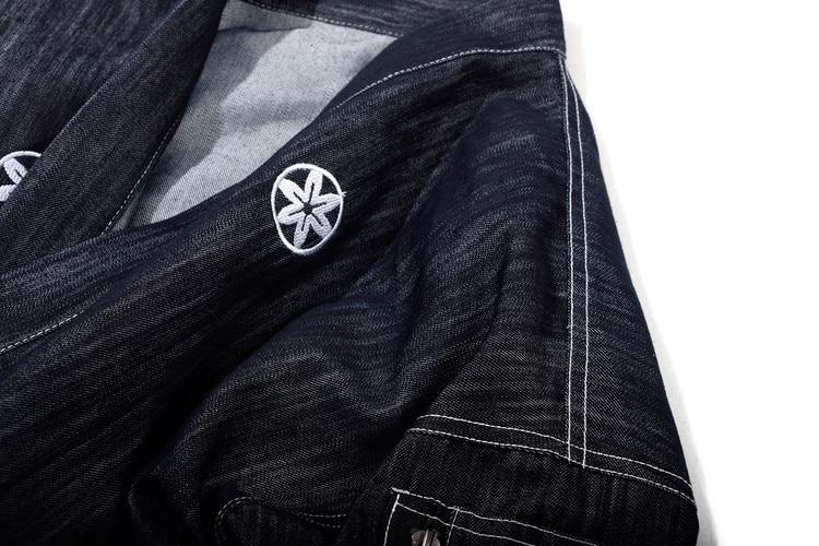 #4204 Japanese Men Kimono Jacket Streetwear Fashion Cardigan Denim Windbreaker Jackets Men Harajuku With Embroidery Plus Size 6