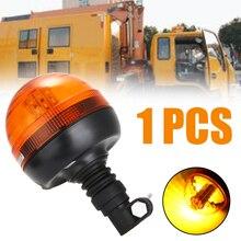 цена на New Arrival 12V/24V 40LED Flexible Rotating Work Emergency Signal Light Car Warning Flash Strobe Beacon Amber Light Lamp