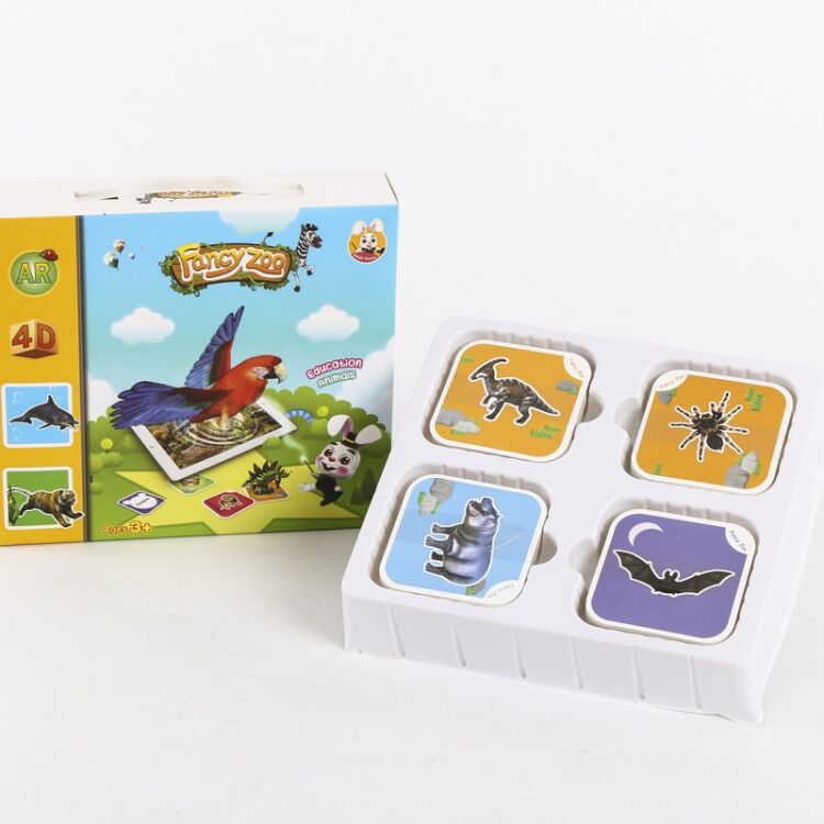New 68pcs Magic Encyclopedia AR Cognitive Card 3D Vocal Literacy Card Baby Animal Card Early Childhood Education Intelligent Toy