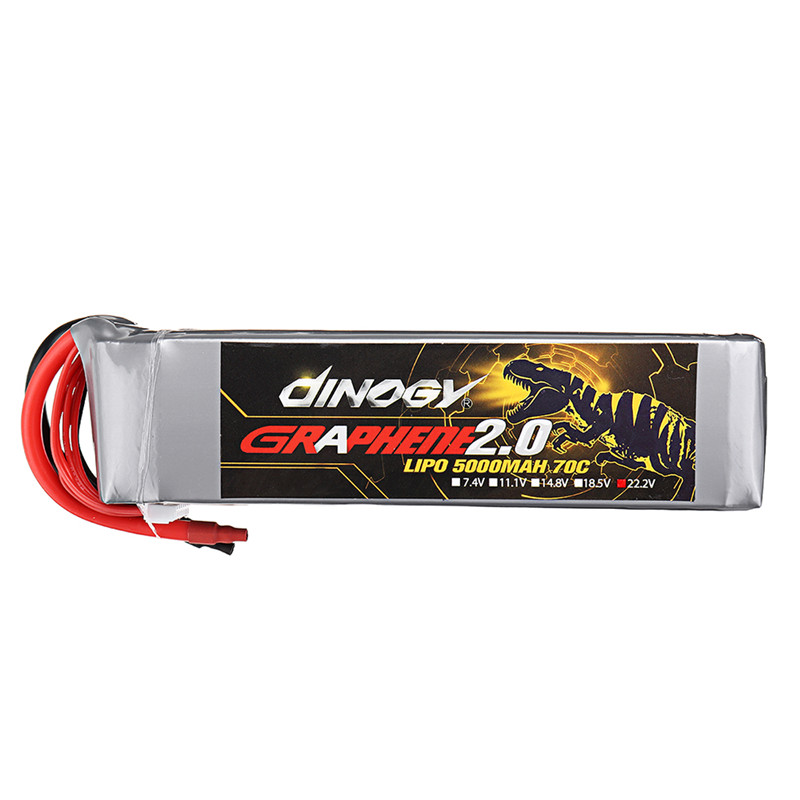 1/2PCS DINOGY GRAPHENE 2.0 22.2V 5000mAh 70C 6S Lipo Battery for FPV RC Quadcopter Drone Models Spare Part DIY Accessories image