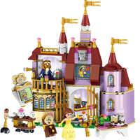 JG310 383pcs di Bellezza E La Bestia Principessa Bella Castello Incantato Blocchi di Costruzione di Mattoni Giocattoli Per Bambini Compatibile Legoings Amici di Ragazze