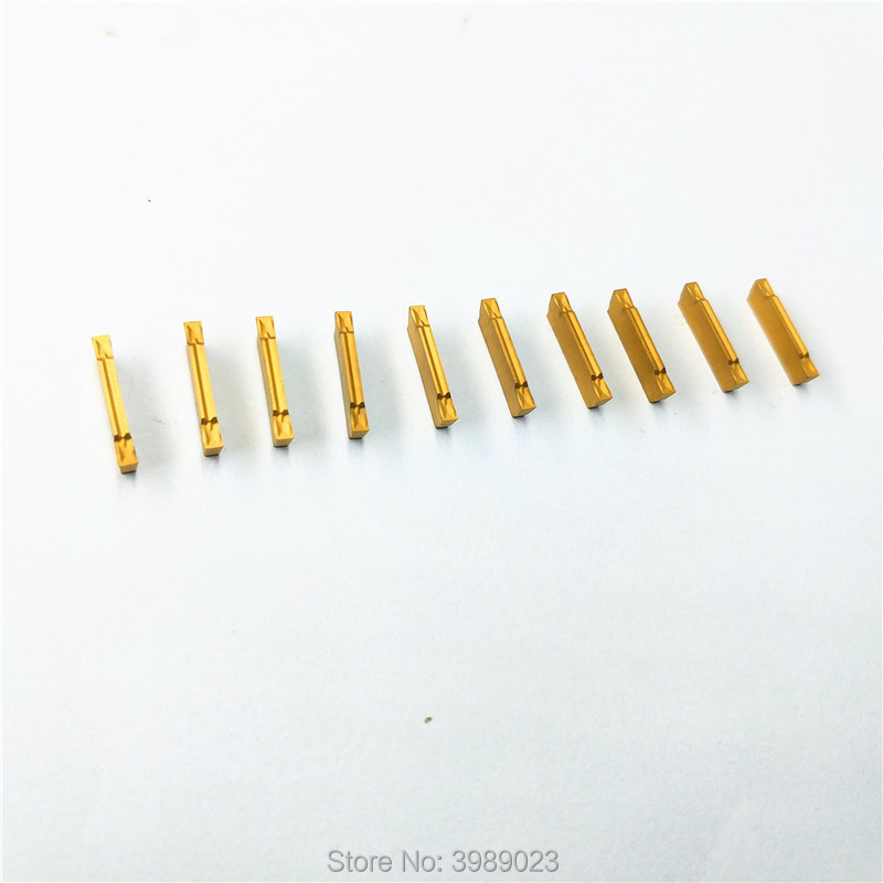 PPK  10pcs/box MGMN200-G 2mm Width Carbide Inserts For MGEHR/MGIVR Lathe Grooving Cut-Off Tool/