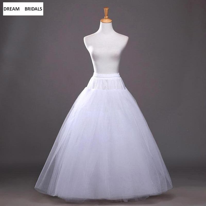 In Stock A-Line 4 Layers Wedding Accessories Organza Women Underskirt No Hoop Petticoats Crinoline Skirt Hot Sale Slips Women