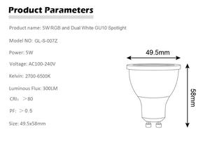 Image 4 - 12 ピース/セット ZIGBEE ZLL RGB + CCT RGBW WWCW スポットライト、 E27/E26/GU10 、 5 ワット、デュアル白と色ランプカップ、調光可能、 amazon のエコープラス