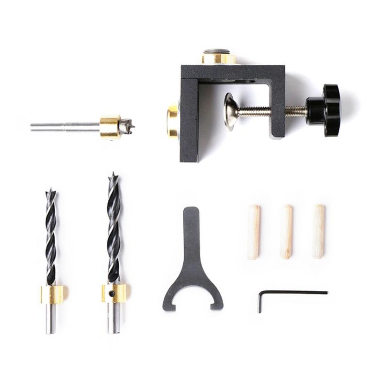 Hot Sale Furniture Puncher Woodworking Tool DIY Woodworking Joinery High Precision Dowel Jigs Kit 3 In 1 Drilling Locator