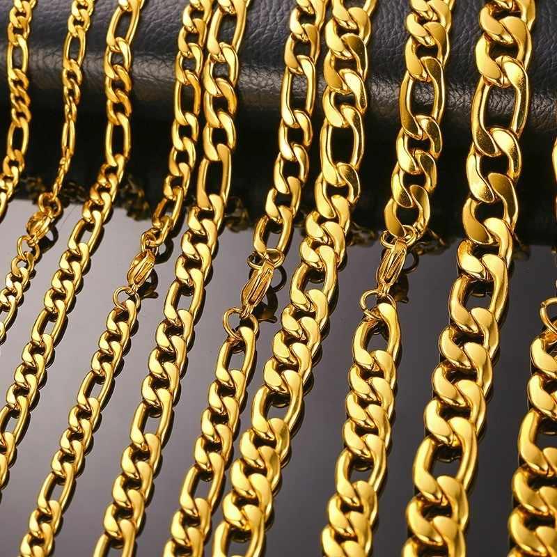 Diverse Stijl Rvs Heren Ketting voor Mannen Vrouwen Tarwe Cuba Snake Box Link Kettingen 2-6MM breed