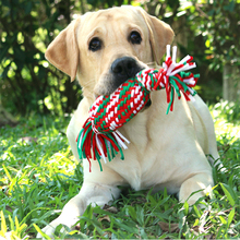Pet molars Dogs Pets Toys Hand woven knot toys cotton rope toy Small medium large dog Sounding candy