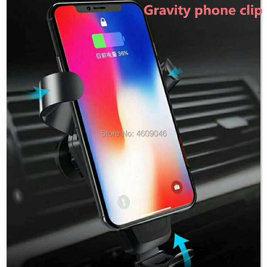 Qi Car Wireless Charger Phone Holder for peugeot 208 renault captur dacia  duster golf mk5 citroen c4 picasso bmw x5 e70