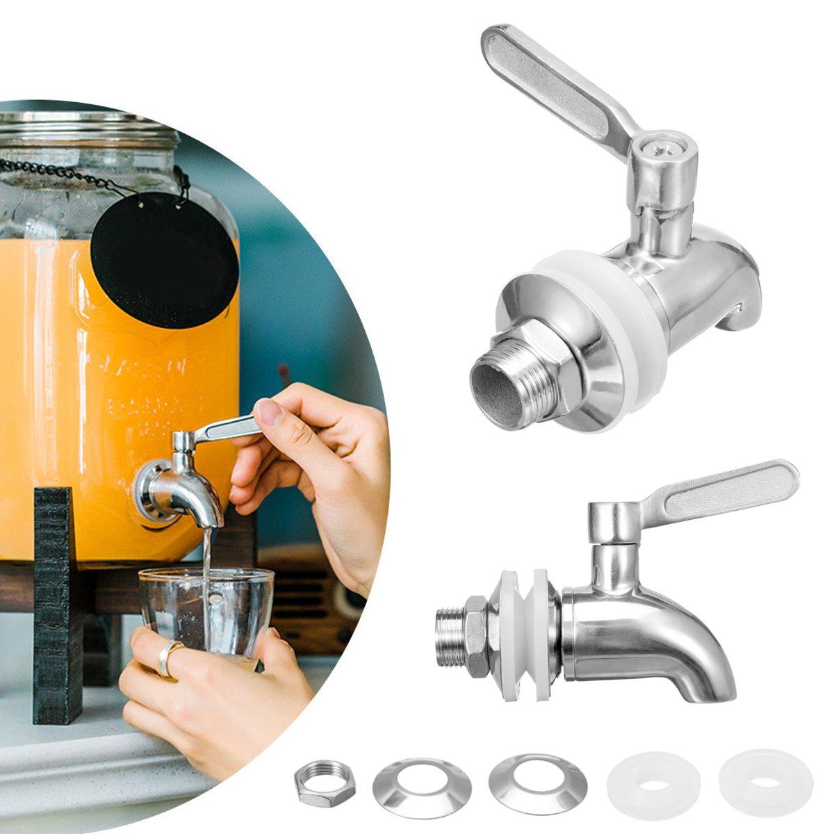Wine Barrel Spigot Taps Stainless Steel Drink Beverage Dispenser Faucet Supply