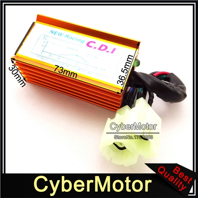 US $7 99 5% OFF|Gold Performance 6 Pin AC Ignition CDI Box For GY6 50cc  90cc 110cc 125cc 150cc Engine Chinese Moped Scooter ATV Quad Buggy-in