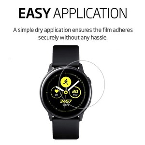 Image 4 - 3Pack For Samsung Galaxy Watch Active Active2 40mm 44mm Smart Watch 5H Nano Explosion proof Screen Protector HD Anti shock Film