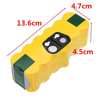 14.4V 4500mAh Ni MH Replacement Battery Pack for iRobot Roomba 650/770/780/790/880/550/510 R3 Runtime Reliability Durability