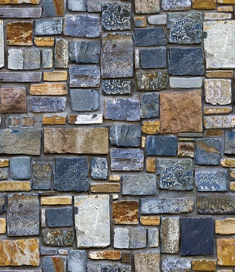 Self-Adhesive Wallpaper Brick Stone Store Wood Textured Barbershop Living-Room Home Improvement