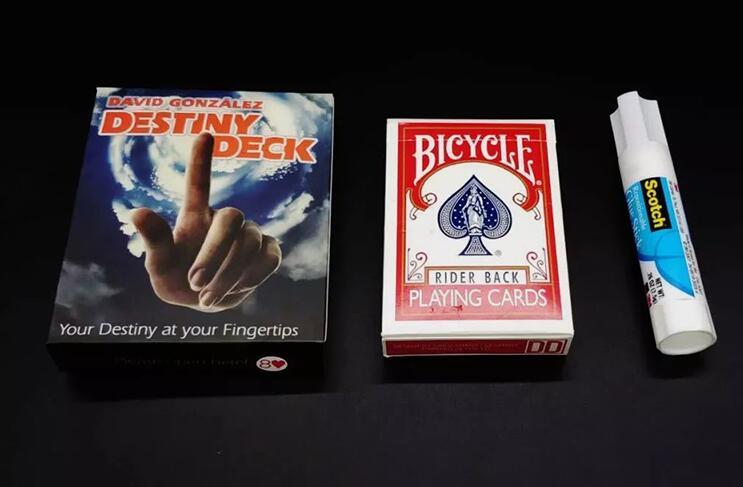 Envío Gratis cubierta del destino de David (versión trasera de la bicicleta) trucos de magia, mentalismo, magia de la tarjeta, primer plano, accesorios, accesorios