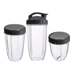 Cups Juicer-Parts Replacement Kitchen-Appliance Nutribullet Tall for Fruit 3-Lids 3pcs