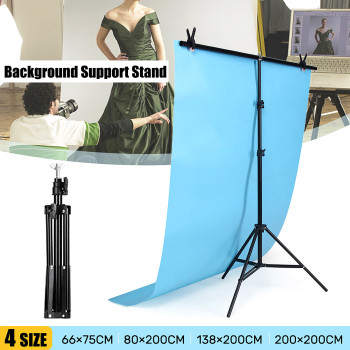 Newest 4 Sizes T-type Adjustable Background Frame Support Stand Metal Holder Photo Studio Backdrop System Photography Equipment