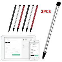 2 шт емкостная ручка сенсорный экран Стилус карандаш для iPhone iPad планшет универсальный
