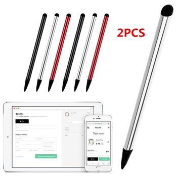 2 in 1 Kapazitive Resistiven Touchscreen Stylus Bleistift für Tablet iPad Handy Samsung PC Stylus Kapazitiven Stift