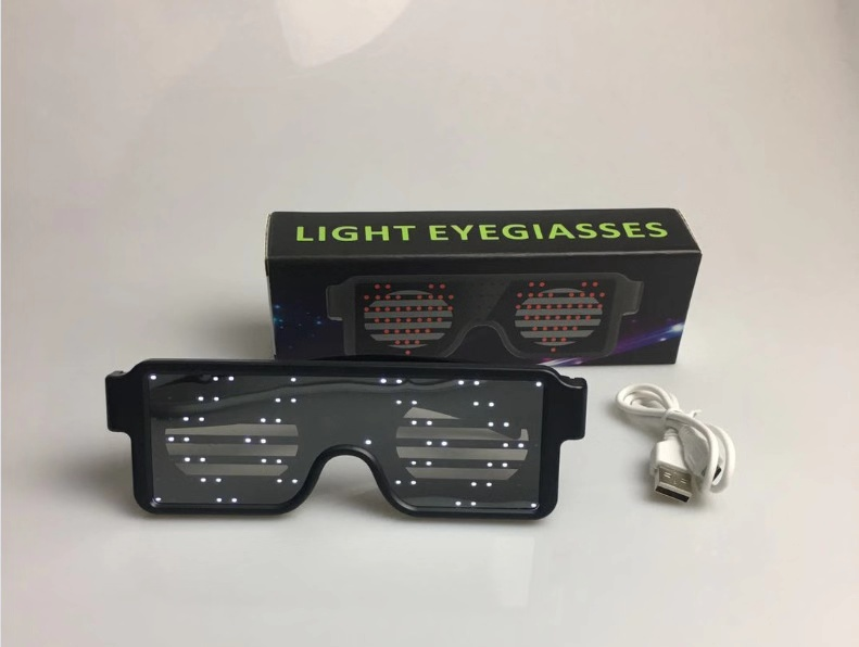 Fashion high quality flashing led party glasses for children