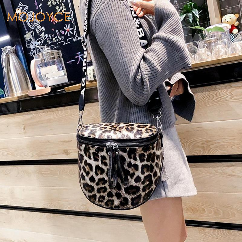 Woman Bag Bucket Messenger-Bags Leopard-Print Fashion Female Pu
