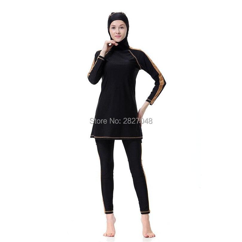 Schwimmen Muslimische Bademode Freundschaftlich 2 Teile/satz Neue Muslimischen Badeanzug Damen Bademode Modest Bademode Muslimischen Schwimmen Kleidung