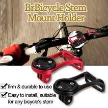 Bicycle Stem Computer Mount Holder Headlight Clamp Bike Handlebar Extension Bracket Adapter For Garmin For Gopro For Cateye