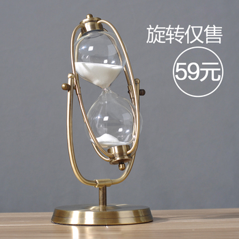 Modern Hourglass 30/60 Minutes Creative Metal Furnishing Birthday Sitting Room Decoration Hourglass Minimalism Hourglass Timers фото