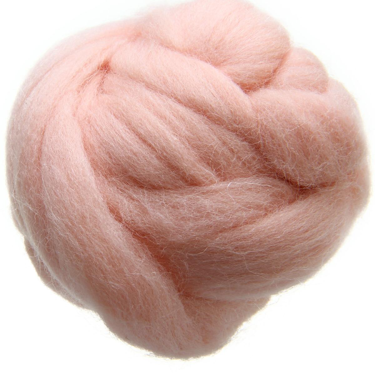 50 กรัมสีชมพูอ่อน Merino - ศิลปะงานฝีมือและการตัดเย็บ