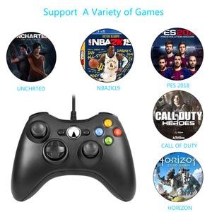 Image 4 - FORNORM Gamepad עבור Xbox 360 Wired בקר Wired ג ויסטיק עבור XBOX360 Gamepad Joypad למחשב בקר עבור Windows 7 8 10