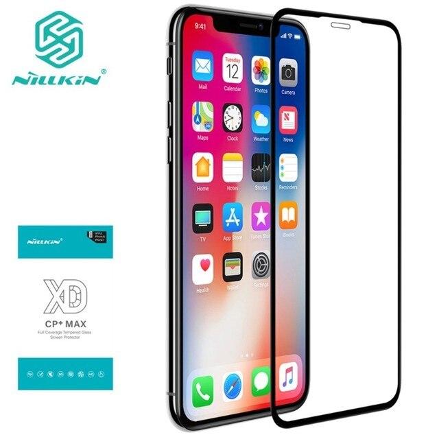 IPhone XS için Max 11 pro max temperli cam Nillkin XD MAX tam kapak ekran koruyucu için iPhone X XR 7 8 artı anti glare film