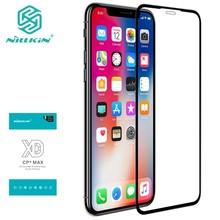 for iPhone XS Max 11 pro max プロマックス強化ガラス Nillkin XD 最大フルカバー for iPhone X XR 7 8 Plus プラスアンチグレアフィルム