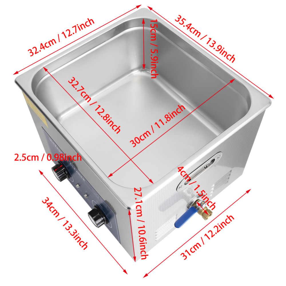 15L Ban Đầu Thép Không Gỉ Siêu Âm Sạch Hơn Nước Nóng & Hẹn Giờ Làm Sạch Bể Máy với Giỏ Cho Đồ Trang Sức Đồng Hồ