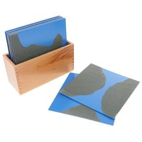 Montessori Geography Material Geography Cards Sandpaper Sensory Educational Early Learning Toys for Kids Birthday Xmas Gift