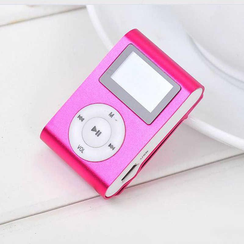 Mini Mp3 Speler Pocket Audio USB Clip MP3 Speler Lcd-scherm Ondersteuning 32 GB Micro SD TF Card Radio Walkman lied Ondertitels 6 Kleuren