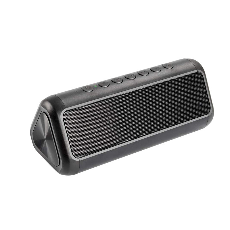 Solar Bluetooth Speaker With 5000Mah Power Bank, Portable Wireless 4.2 12W Stereo Subwoofer Bass, Ipx6 Water
