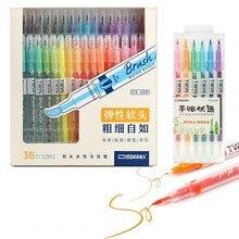 36 цветов/Набор для рисования, акварельная кисть, ручка с двойным наконечником, авторучка с водным цветом, авторучка, канцелярские товары, школьные товары для рукоделия